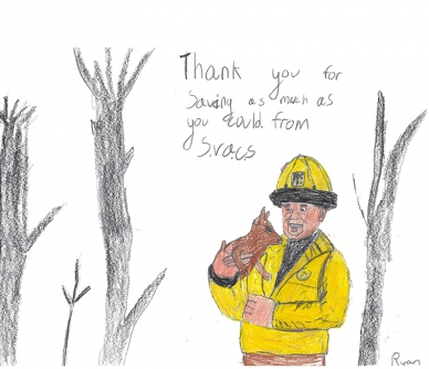 Firefighter Thank You Cards