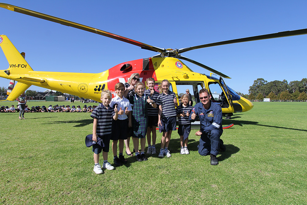 Westpac Helicopter lands at SVACS : Image 3