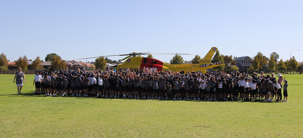 Westpac Helicopter lands at SVACS : Image 4