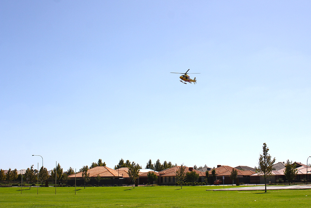 Westpac Helicopter lands at SVACS : Image 5