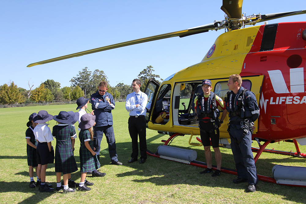 Westpac Helicopter lands at SVACS : Image 11
