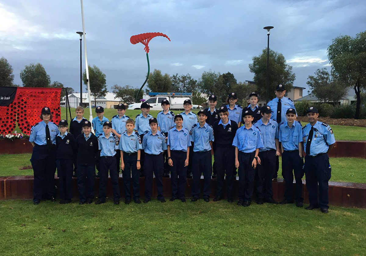 SVACS Police rangers at the ANZAC dawn service