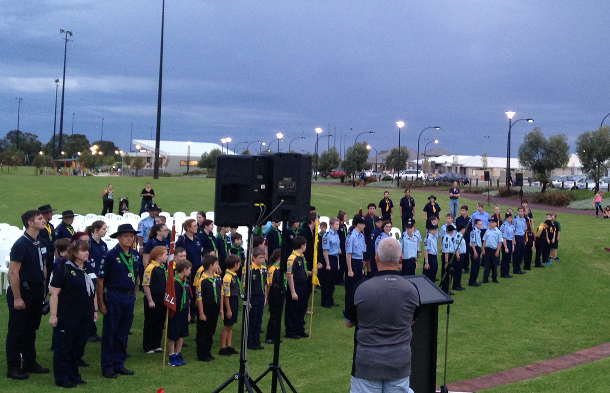 ANZAC overnight vigil at the Ellenbrook District Open Space.