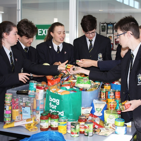 Anglicare Ambassadors with donations for the Winter Appeal