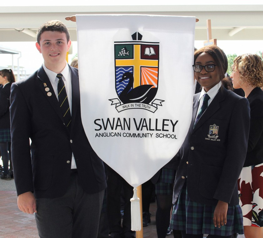 SVACS School Captains Christoffel Botha and Natalie Dausi