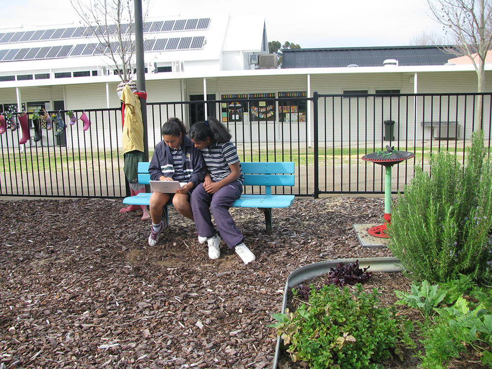 Outdoor classroom challenge in the garden