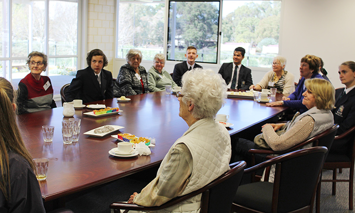 Year 9 students hosted a tea for visitors from the Retirement Village as part of their Service Learning unit.