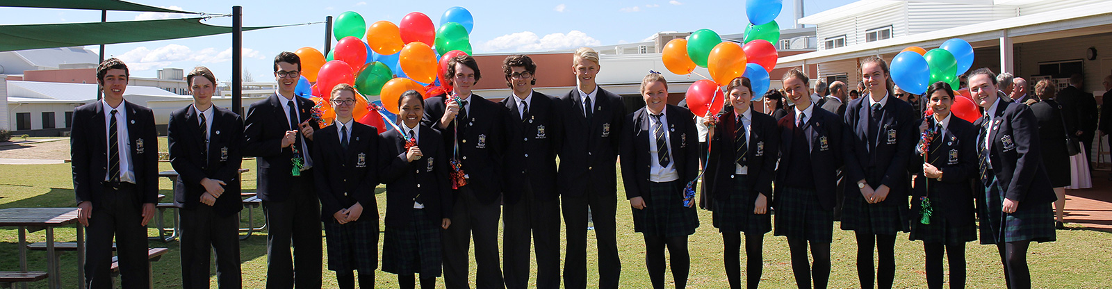 2016 Senior School Leaders at the 10th Anniversary celebrations