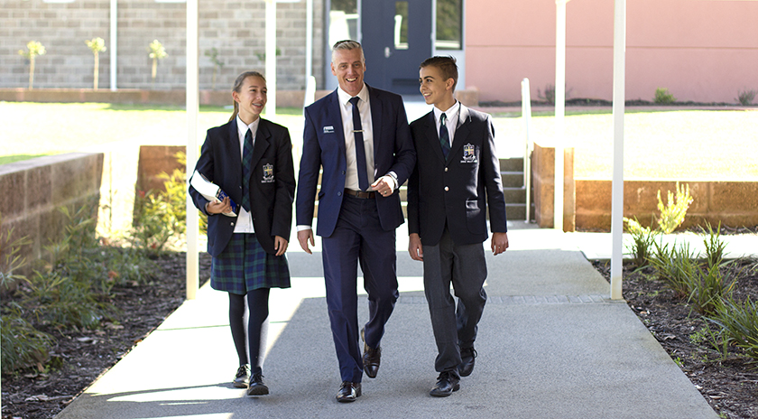 Assistant Principal Senior School with students 2015