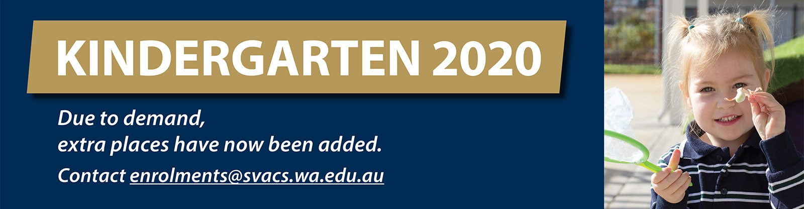 Kindergarten 2020 places available
